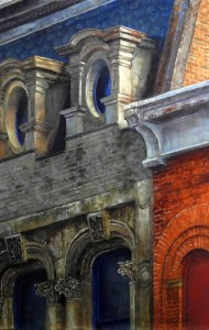 EastEnd Studio and Gallery - West End of the Building - A Painting by Helen Kleczynski